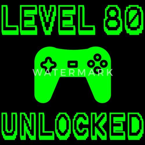 Snapback CapLevel 80 Unlocked Gamer 80th Birthday Gift Idea