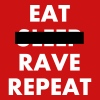 EAT - RAVE REPEAT - Snapback Cap