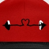 weightlifting - barbell and heart - Snapback Cap