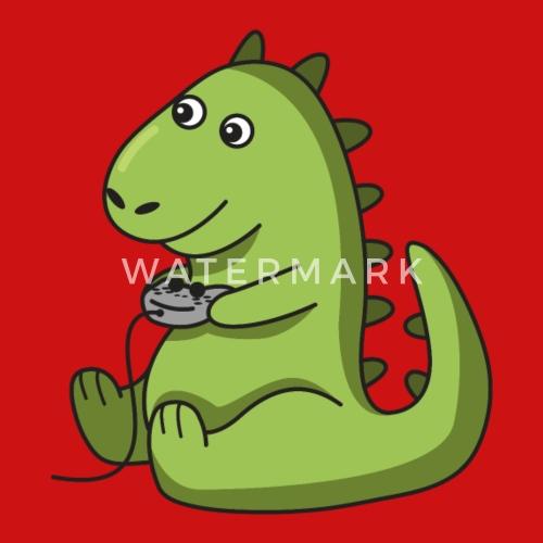 Gamer dinosaurio regalo idea dino trex juego Gorra snapback ... c51898dcb02