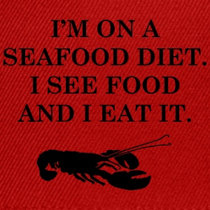 Diets with seafood - Snapback Cap