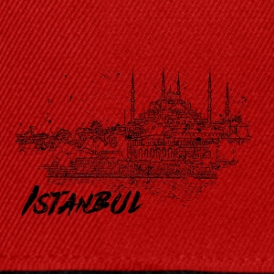 Istanbul - city view sketch - Snapback Cap