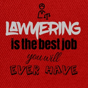 Lawyering is the best job you will ever have - Snapback Cap