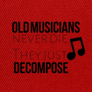 Old musicians never the they decompose - Snapback Cap