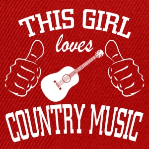 This girl loves country music - Snapback Cap