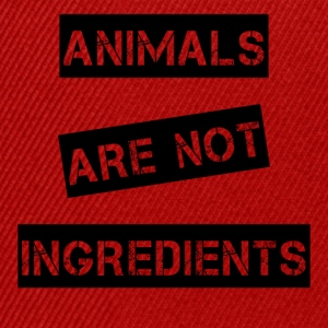 Animals are not ingredients - Snapback Cap