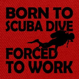 born to scuba dive - Snapback Cap