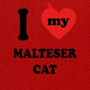 i love fat cats MALTESER CAT - Snapback Cap