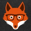 Sweet Funny hipster fox with nerd glasses - Snapback Cap