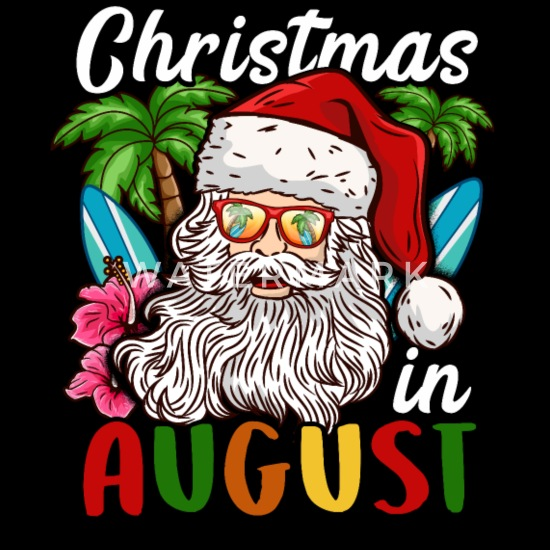 Christmas In August Poster.Christmas In Summer T Shirt Santa Holiday In August Snapback