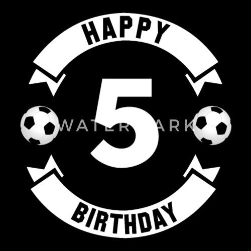 5e Verjaardag Jongens Gelukkige Verjaardag Voetbal Snapback Cap