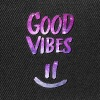 Good Vibes! Funny Smiley Statement / Happy Face - Gorra Snapback