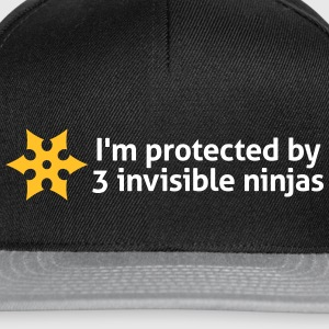 I Am Protected By Invisible Ninjas! - Snapback Cap