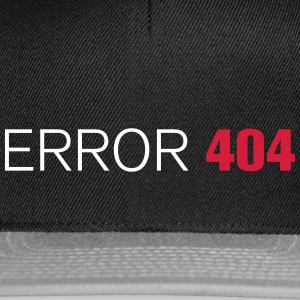FUN GEEK SHIRT ERROR 404 - Snapback Cap