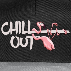 Flamingo lazy his chill out casually cool gift - Snapback Cap