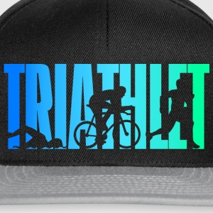 Triathlete - colorato - Triathlon - Snapback Cap