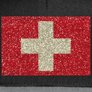 Swiss flag glitter home tradition flag - Snapback Cap