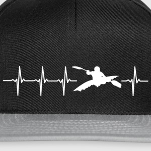 I love kayaking (kayak heartbeat) - Snapback Cap