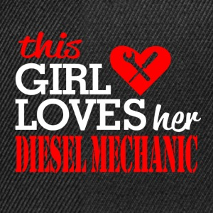 loves her diesel mechanic - Snapback Cap