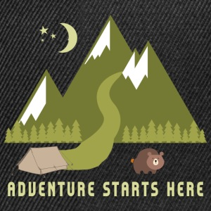 Camping Adventure Starts Here - Snapback Cap