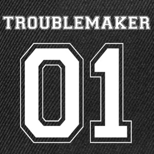 TROUBLE MAKER 01 - White Edition - Snapback Cap