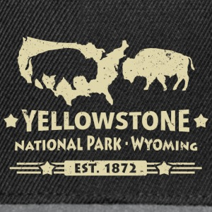Buffalo Bison Buffalo Yellowstone National Park USA - Snapback Cap