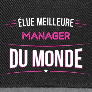 Manager t shirt drole pour Manager - Casquette snapback
