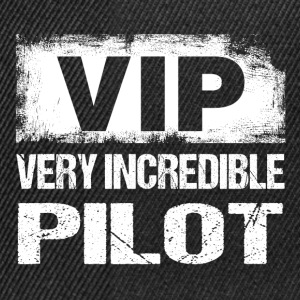 Funny VIP Very Incredible Pilot Flieger Aviation - Snapback Cap