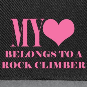 My Hear Belongs To A Rock Climber - Snapback Cap