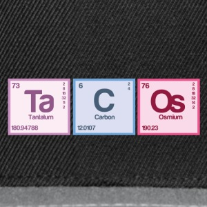 Periodic table elements: Ta C Os - Snapback Cap