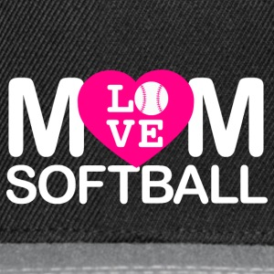 Mom love softball - Snapback Cap