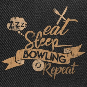 EAT SLEEP BOWLING REPEAT - Casquette snapback