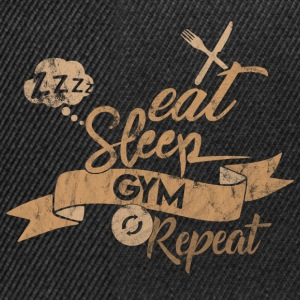 EAT SLEEP GYM REPEAT - Snapback Cap