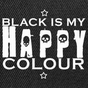 Black is my happy color - Snapback Cap