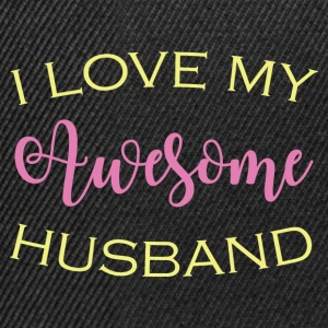 AWESOME HUSBAND - Snapback Cap