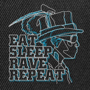 eat rave repeat - Snapback Cap