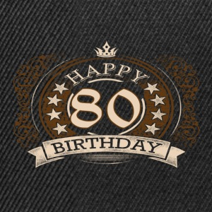 80th birthday - Snapback Cap