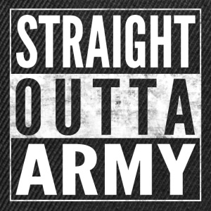 Straight Outta ARMY Bundeswehr chemise drôle - Casquette snapback