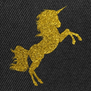Golden Unicorn - Golden Unicorn Gold Glitter - Snapback Cap