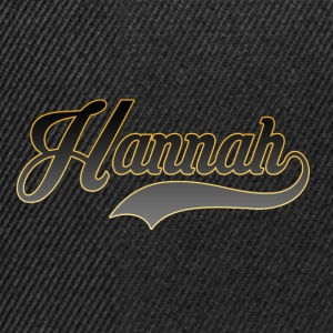 First name Hannah - Snapback Cap