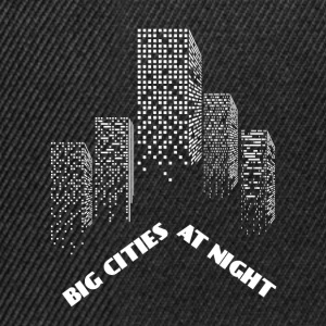 Large cities by night - city of Grossstadt night - Snapback Cap