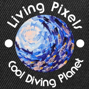 Living pikselin Cool Planet Diving, sukellusta, valo - Snapback Cap