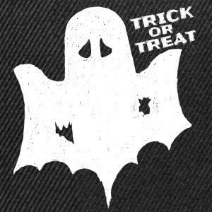 Scary Halloween Costume Shirt Trick Treat Ghost - Snapback Cap