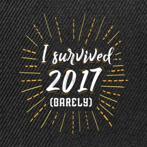 I survived 2017 barely funny shirt for sylvester - Snapback Cap