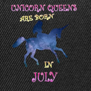 unicorn queens are born in july - Snapback Cap