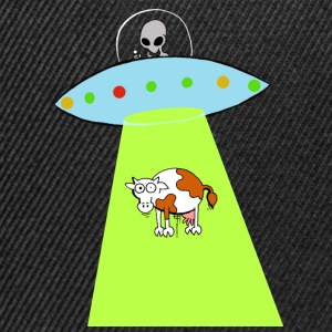 Cow and UFO - Snapback Cap