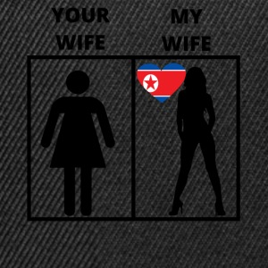 North Korea gift my your wife - Snapback Cap