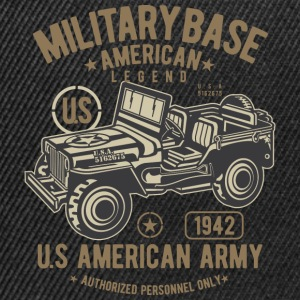 MILITÄR JEEP OFFROAD - US Army Jeep shirt Design - Snapbackkeps