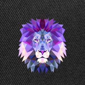 Lion purple lion king mandala yoga hypnosis head solid - Snapback Cap