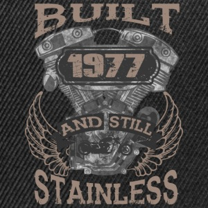 Built and even stainless biker born 1977 - Snapback Cap